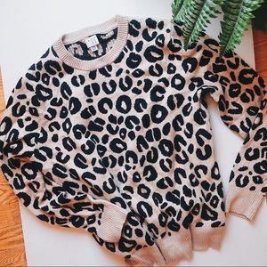 Leopard animal print sweater size XXL